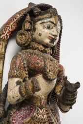 Female figure, Jaina architectural ornament. Gujarat, India, 17–18th century